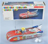 RED CHINA Battery Op SPACE SHIP w/BOX