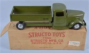 STRUCTO 200 Pressed Steel ARMY DUMP TRUCK wBox