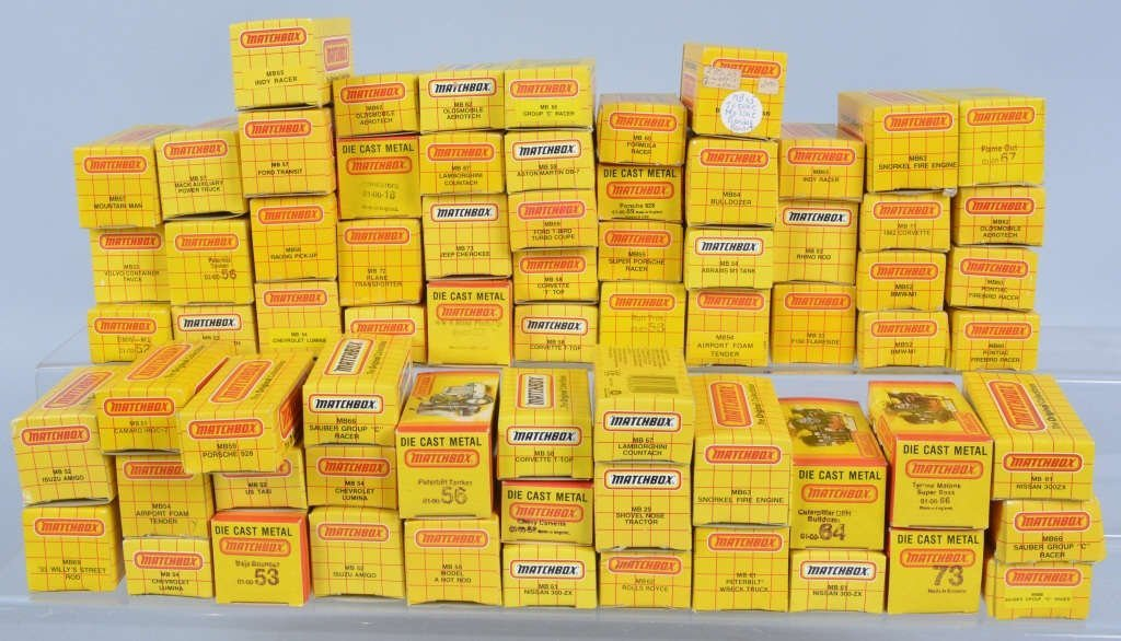 Lot of 70 1980s MATCHBOX CARS mib