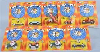 Lot of 9 ERTL Diecast 1989 LOONEY TUNES CAR moc