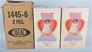Lot of 2 Ideal Porcelain Shirley Temple Dolls