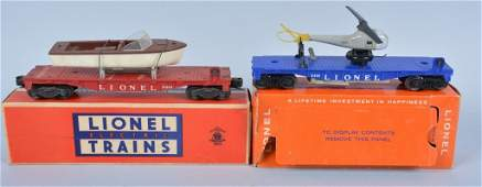 LIONEL #6801 & #3419 TRAIN CARS w/ BOX