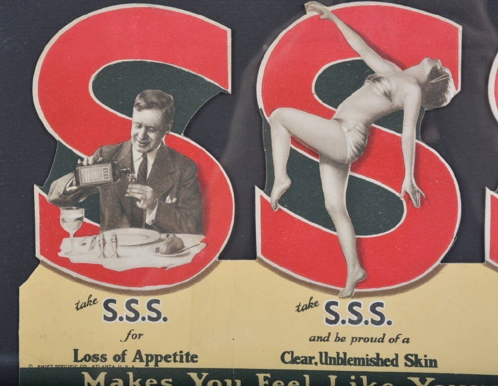 Early SSS TONIC Cardboard ADVERTISEMENT - 2