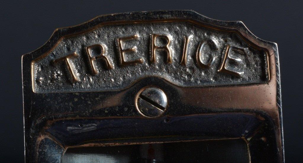 Vintage TRERICE BRASS TEMPERATURE GAUGE - 3