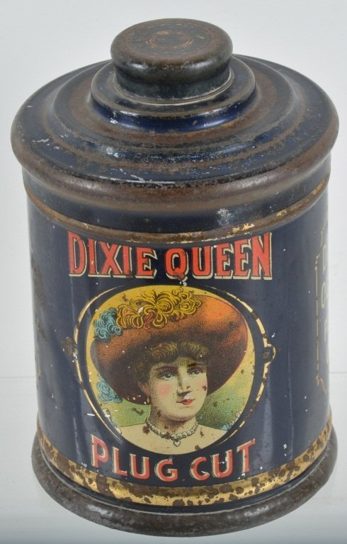 DIXIE QUEEN CUT PLUG TOBACCO TIN