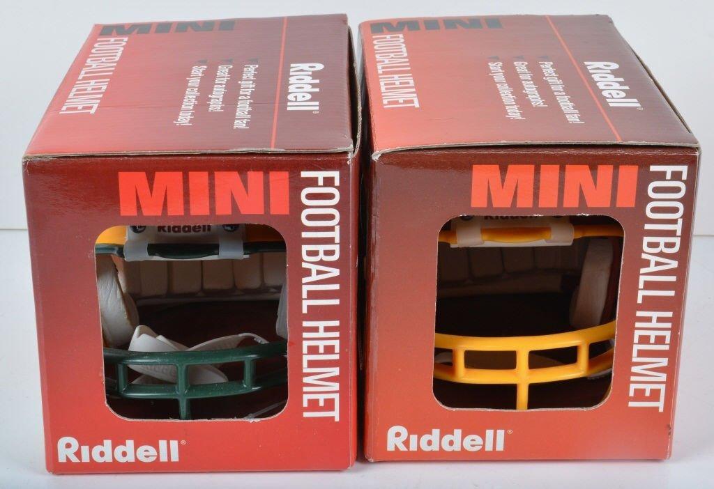 3 AUTOGRAPHED MINI FOOTBALL HELMETS - 2