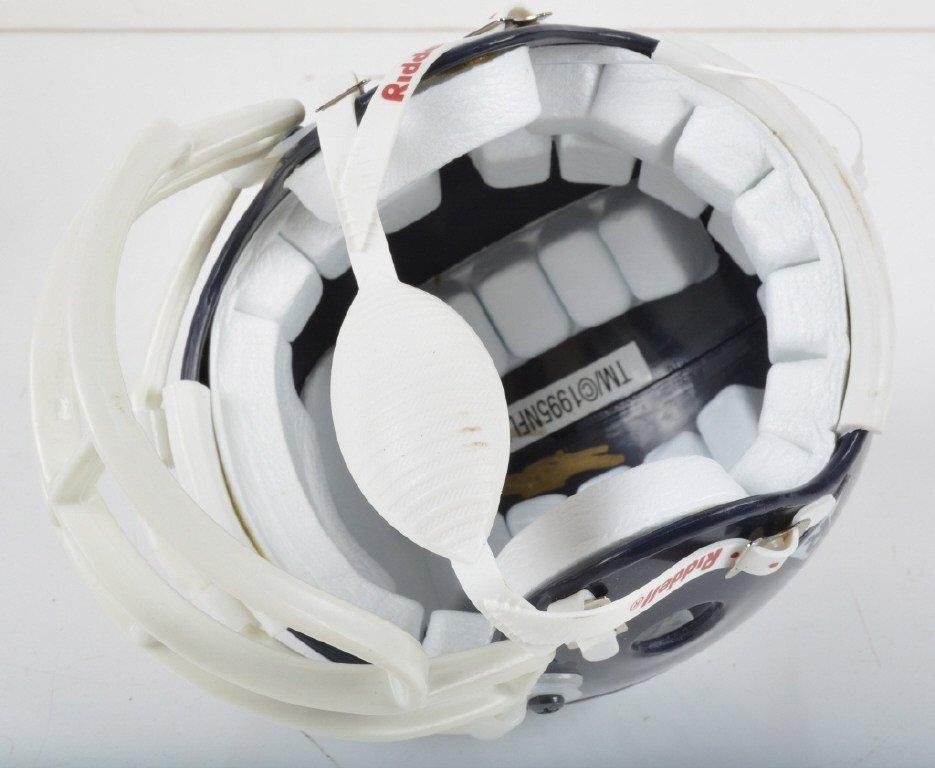 3 AUTOGRAPHED MINI FOOTBALL HELMETS - 5
