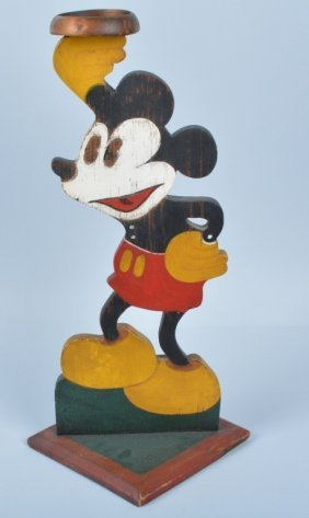 1708 Large Wooden Mickey Mouse Statue Lot 1708