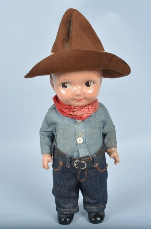 Buddy Lee Cowboy Doll, Composition, Original