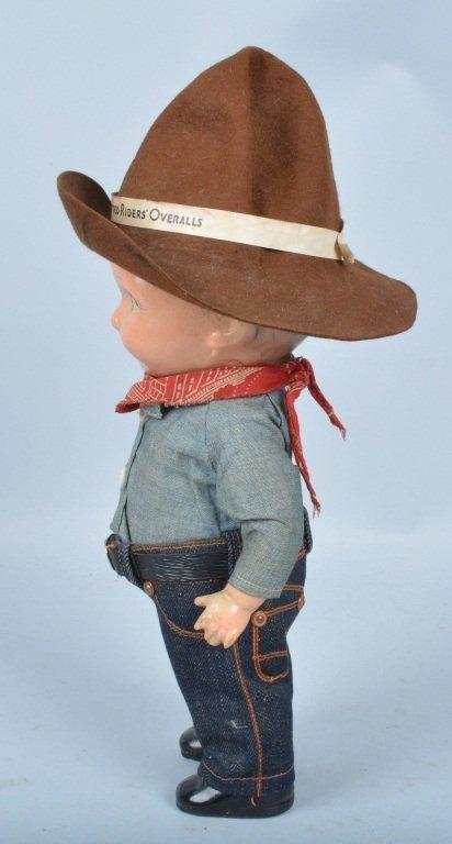 Buddy Lee Cowboy Doll, Composition, Original - 2