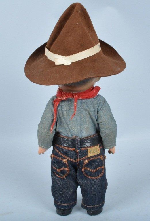 Buddy Lee Cowboy Doll, Composition, Original - 3