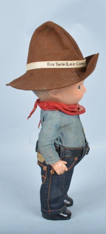 Buddy Lee Cowboy Doll, Composition, Original - 4