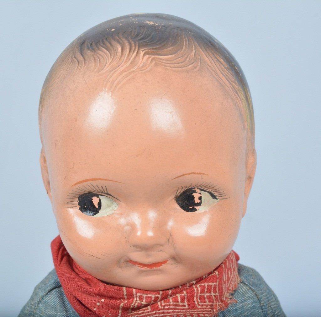 Buddy Lee Cowboy Doll, Composition, Original - 6