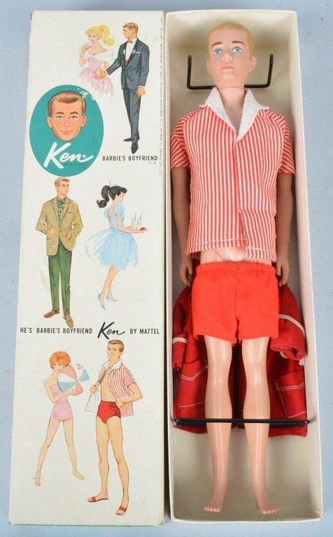 Mattel 1960 Ken Doll, No. 750, with Original Box