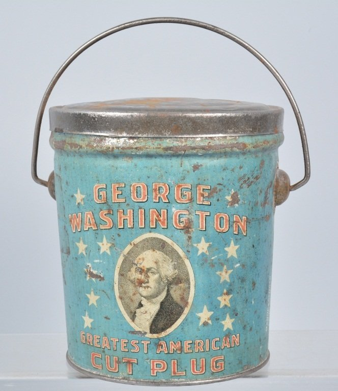 GEORGE WASHINGTON CUT PLUG TOBACCO TIN
