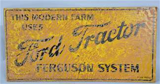 Early FORD TRACTOR FERGUSON SYSTEM SIGN