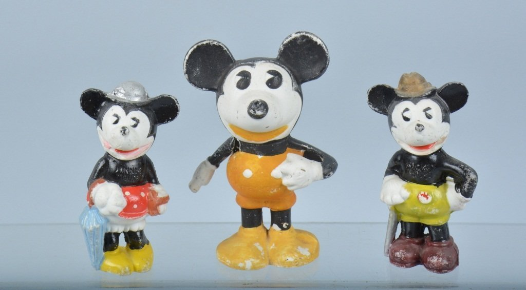 MICKEY MOUSE BISQUE TOOTH BRUSH HOLDER & MORE