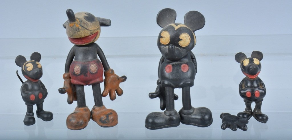 lot of 4 SEIBERLING RUBBER MICKEY MOUSE TOYS