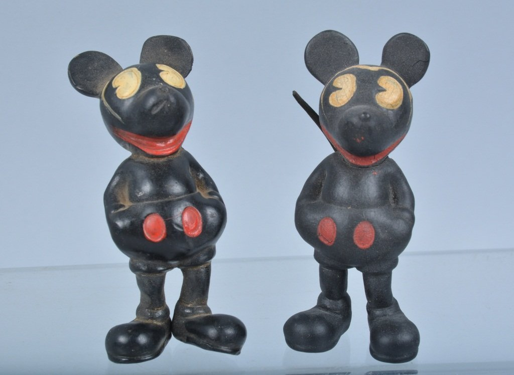 lot of 4 SEIBERLING RUBBER MICKEY MOUSE TOYS - 2
