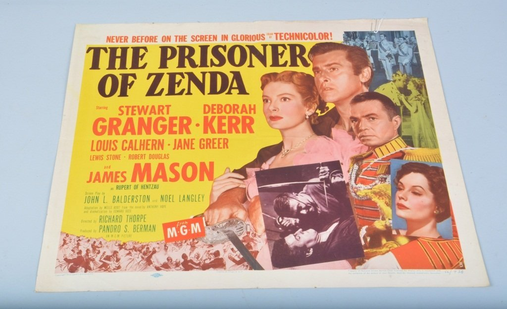 THE PRISONER OF ZENDA 1/2 SHEET MOVIE POSTER