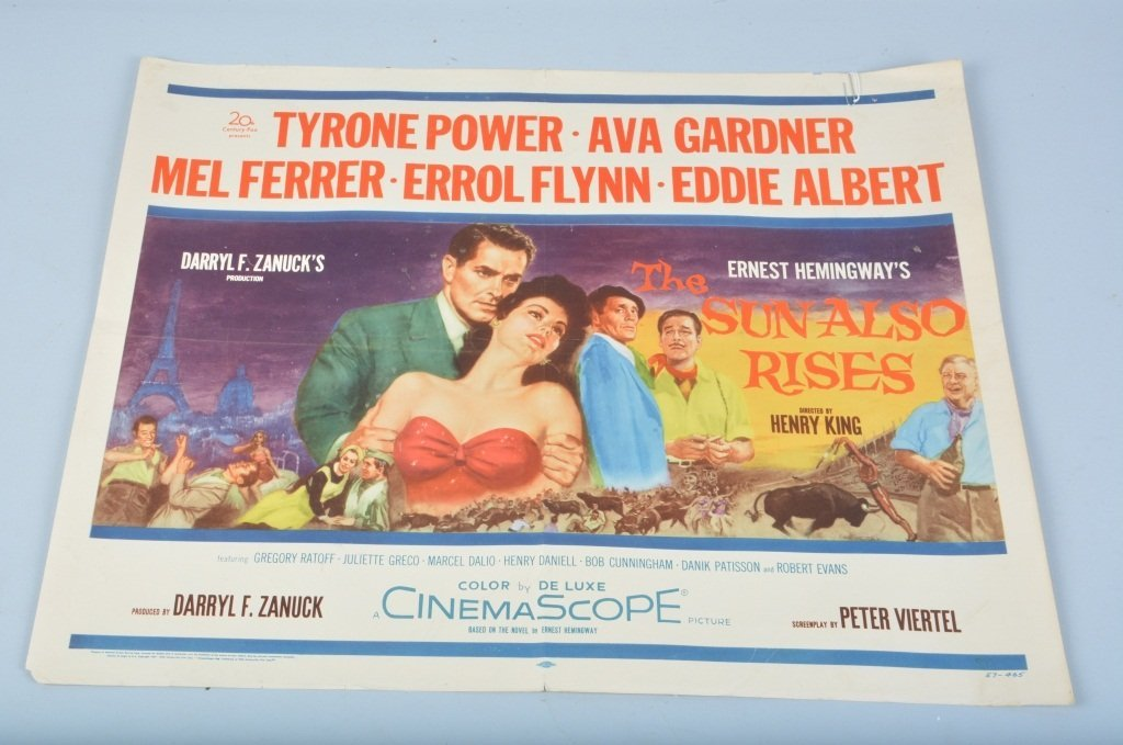 THE SUN ALSO RISES 1/2 SHEET MOVIE POSTER
