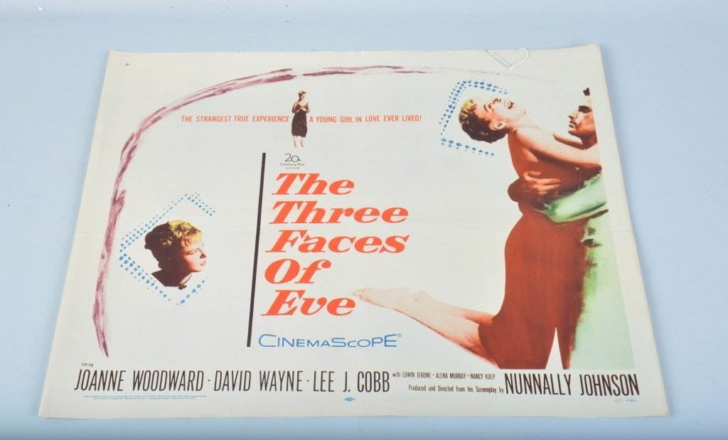 THE THREE FACES OF EVE 1/2 SHEET MOVIE POSTER