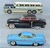 Lot of 3 TIN TOY CARS