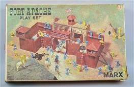 MARX FORT APACHE PLAY SET w BOX