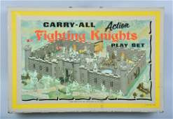 MARX CARRY ALL FIGHTING KNIGHTS PLAY SET w BOX