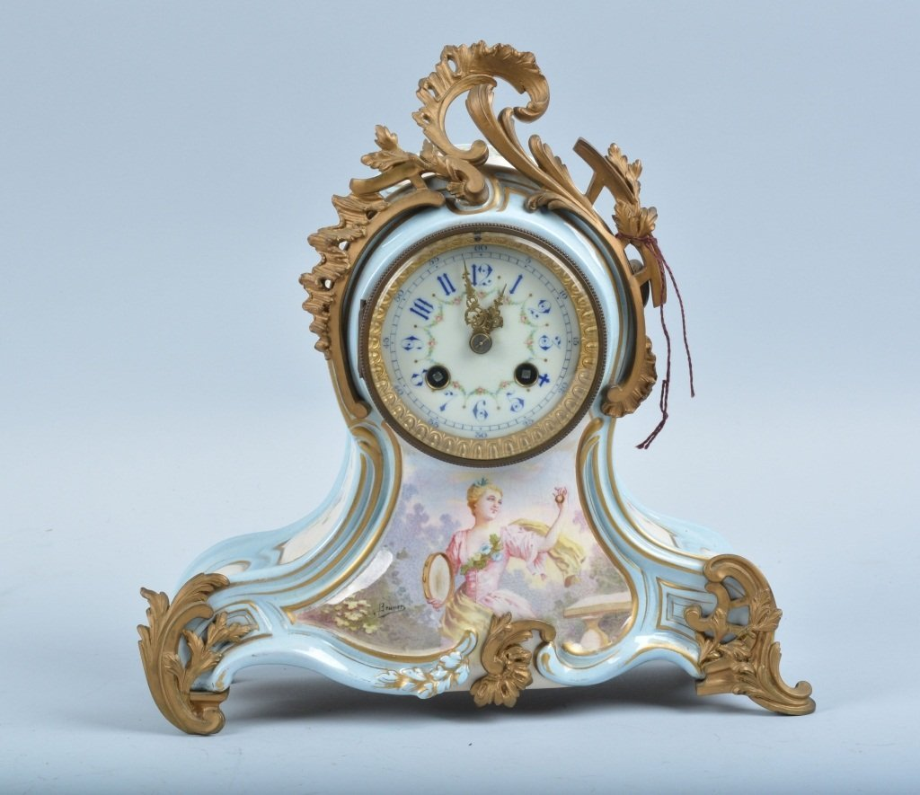 Early FRENCH ART CLOCK signed BRUMER