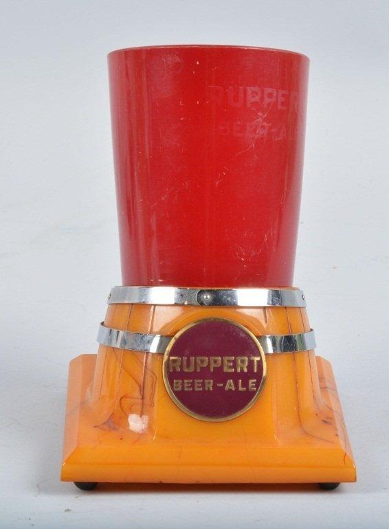 RUPPERT BEER-ALE BAKELITE BARREL CUP HOLDER