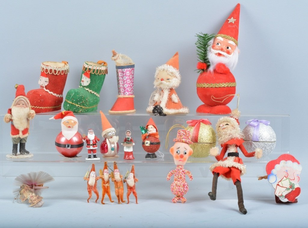 VINATGE SANTA CLAUS & CHRISTMAS CANDY CONTAINERS