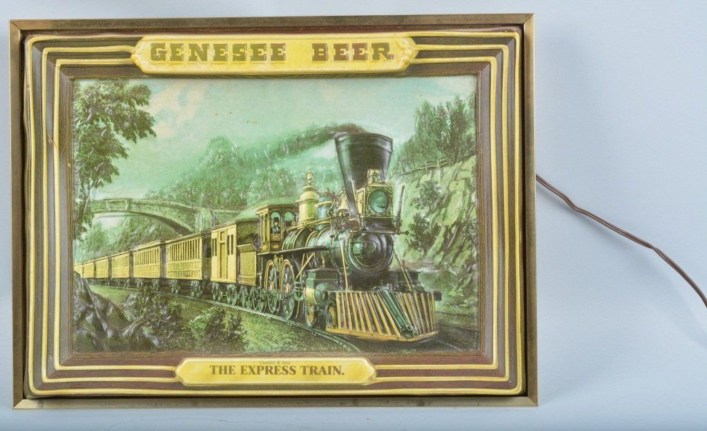 Genesee Beer Express Train Lighted Sign