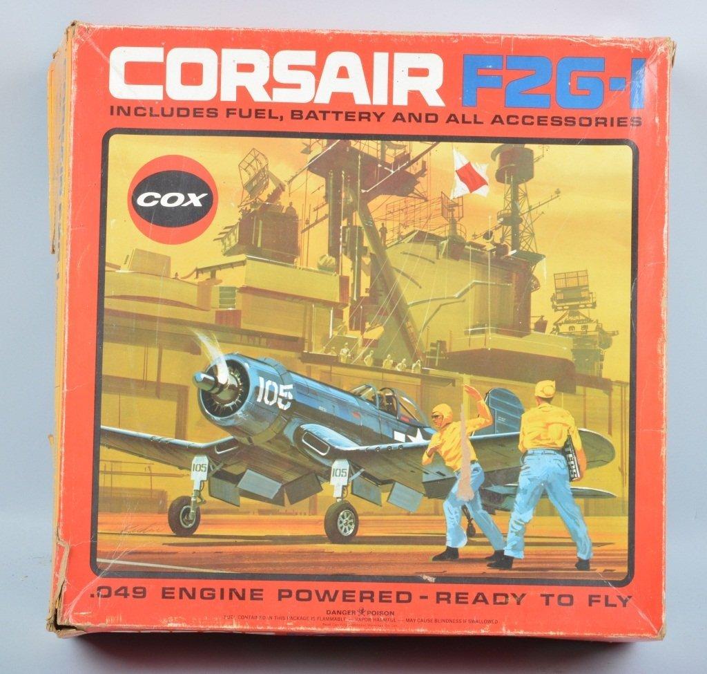 COX CORSAIR F2G-1 GAS POWERED AIRPLANE w/BOX - 3