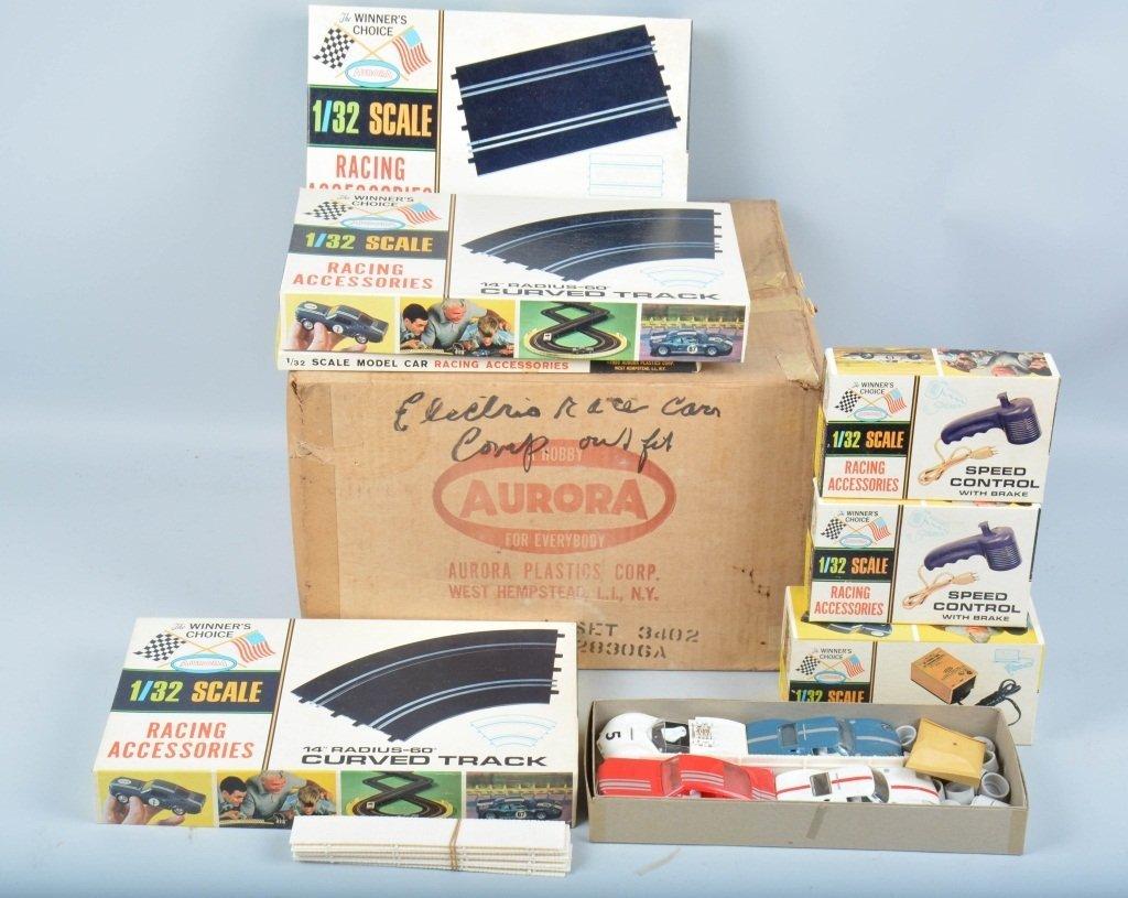 AURORA AJET 4-CARS SLOT CAR SET w/ BOX