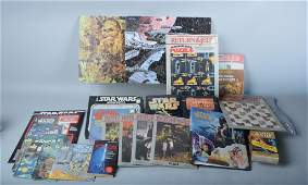 STAR WARS BOOKS, RECORDS, PUZZLES, & MORE