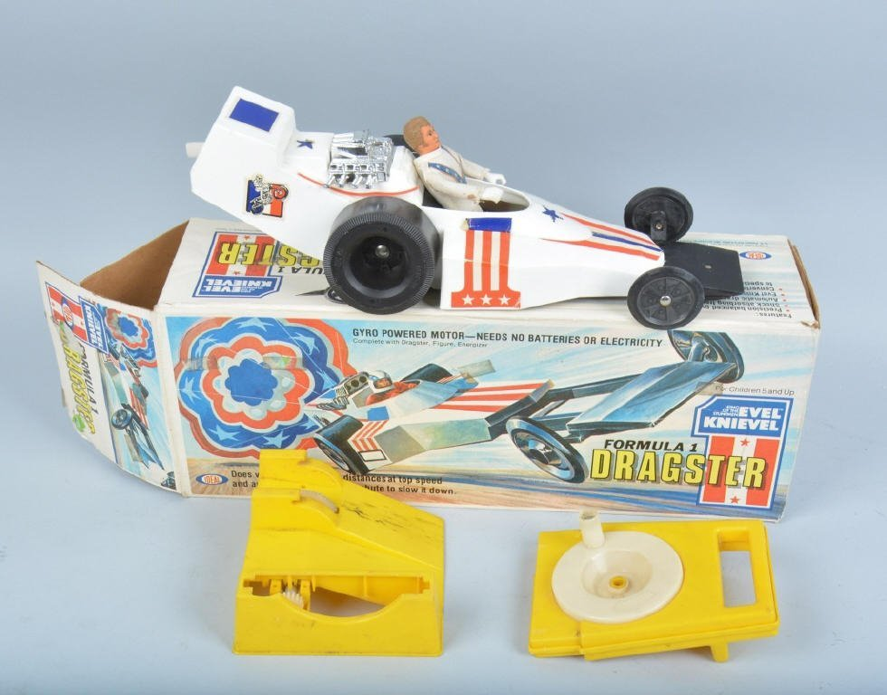 IDEAL EVEL KNIEVEL FORMULA 1 DRAGSTER w/ BOX