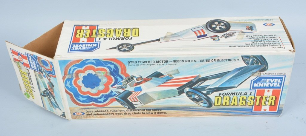 IDEAL EVEL KNIEVEL FORMULA 1 DRAGSTER w/ BOX - 4