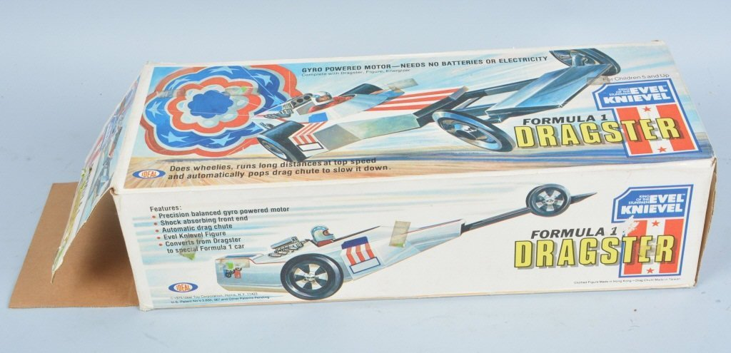 IDEAL EVEL KNIEVEL FORMULA 1 DRAGSTER w/ BOX - 5