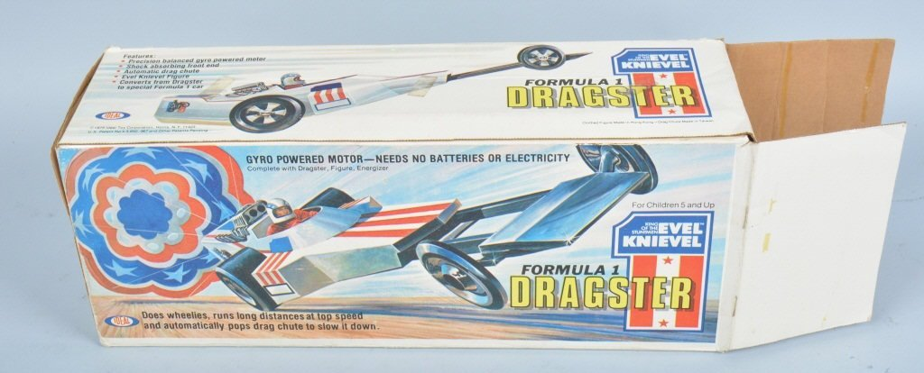 IDEAL EVEL KNIEVEL FORMULA 1 DRAGSTER w/ BOX - 6