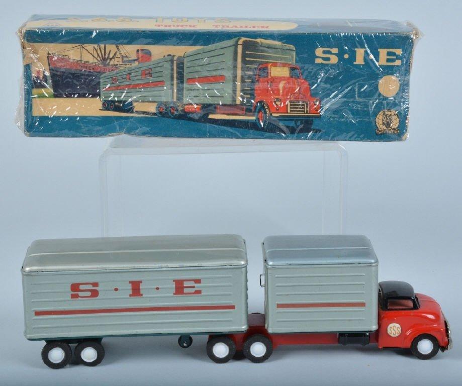 SSS Tin Friction S..I.E. TRUCK & TRAILER w/BOX