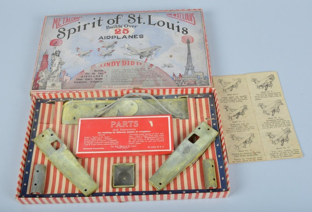 METALCRAFT SPIRT OF ST LOUIS AIRPLANE KIT w/BOX