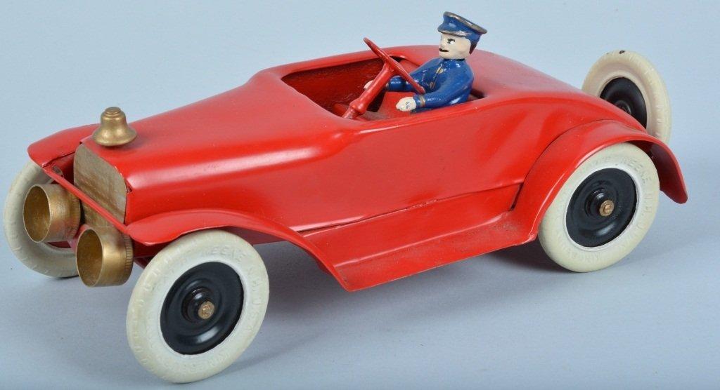 KINGSBURY Tin Windup FIRE CHIEF CAR