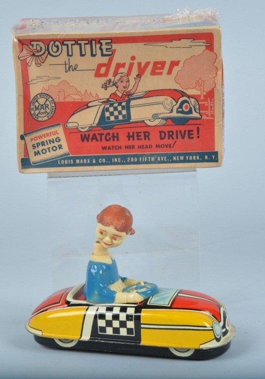 MARX Tin Windup DOTTIE THE DRIVER w/ BOX