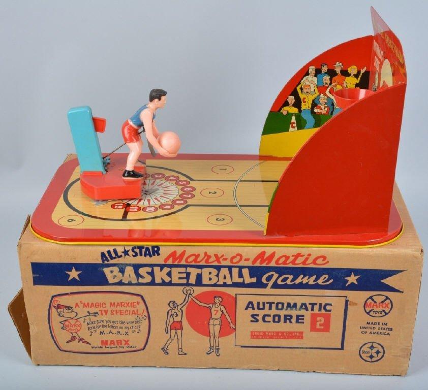 MARX ALLSTAR MARX-O-MATIC BASKETBALL w/BOX