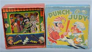 ENGLISH Tin PUNCH & JUDY THEATER TOY w/ BOX