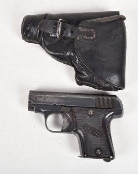 French 6.35 M.a.b. .25 Pistol & Holster