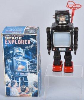 Japan Battery Op Space Explorer Robot W/ Box