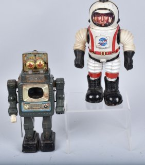 Marx Col Hap Hazzard & Tv Spaceman Robot