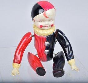 Japan Celluloid Windup Tumbling Clown